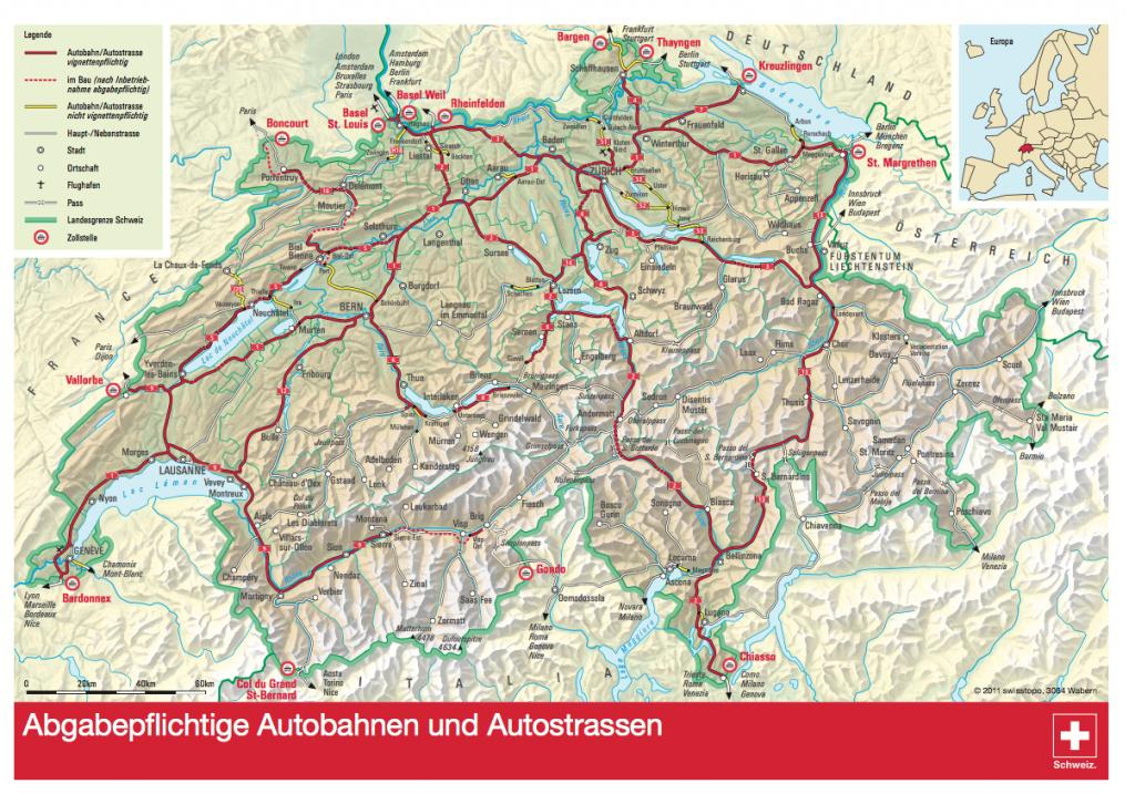 Wegennet Zwitserland