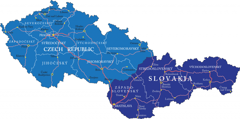 Wegenkaart Tsjechië